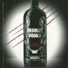ABSOLUT FASHION ANIMAL by C'N'C CoSTUME NATIONAL Italian Vodka Magazine Ad