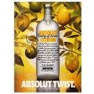 ABSOLUT TWIST Vodka Magazine Ad