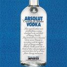 ABSOLUT AUTHORS Canadian Vodka Magazine Ad VERY RARE!