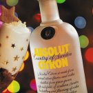 ABSOLUT CITRON NEW YEARS CHEER Vodka Recipe Magazine Ad - 2 Pages