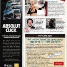 ABSOLUT CLICK 1/3-Page Vodka Magazine Sidebar Ad