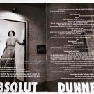 ABSOLUT DUNNE Vodka Magazine Ad DOMINICK DUNNE - 2 Pages