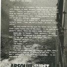 ABSOLUT FURST Vodka Magazine Ad ALAN FURST
