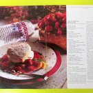 ABSOLUT KURANT BERRY CAKE Vodka Recipe Magazine Ad - 2 Pages