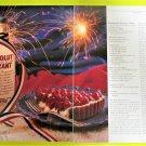 ABSOLUT RAS[BERRY KURANT TART Vodka Recipe Magazine Ad - 2 Pages