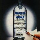 ABSOLUT MASTERPIECE Vodka Magazine Ad