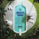 ABSOLUT SUMMER Italian Vodka Magazine Ad SWIMMING POOL