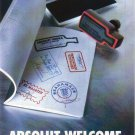 ABSOLUT WELCOME Vodka Magazine Ad PASSPORT VERSION