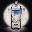ABSOLUT ANONYMOUS Italian Vodka Magazine Ad