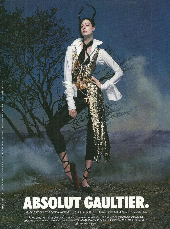 ABSOLUT GAULTIER (Alva Version) Vodka Magazine Ad by Jean-Paul Gaultier