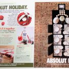 ABSOLUT HOST and ABSOLUT HOLIDAY Canadian Vodka Magazine Ads RARE!