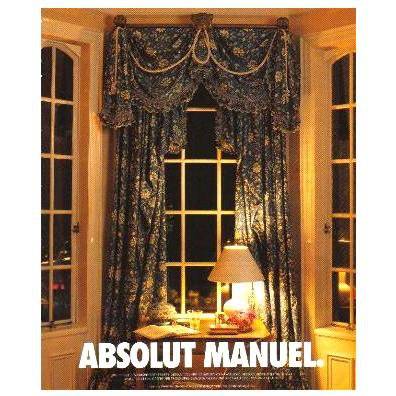 ABSOLUT MANUEL Vodka Magazine Ad by Canadian Interior Designer RARE!