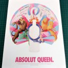 ABSOLUT QUEEN Vodka Magazine Ad A NIGHT AT THE OPERA