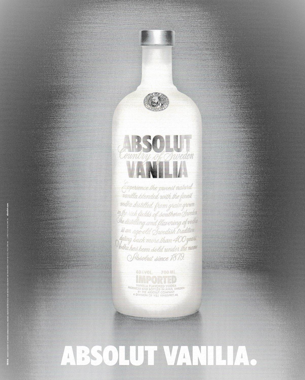 ABSOLUT VANILIA German Vodka Magazine Ad