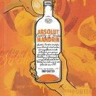 MAKE IT AN ABSOLUT SUMMER Vodka Magazine Ad MANDRIN