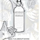 MAKE IT AN ABSOLUT SUMMER Vodka Magazine Ad VANILIA
