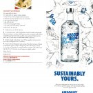 SUSTAINABLY YOURS ABSOLUT COMEBACK Canadian Vodka Magazine Ad ½ Page