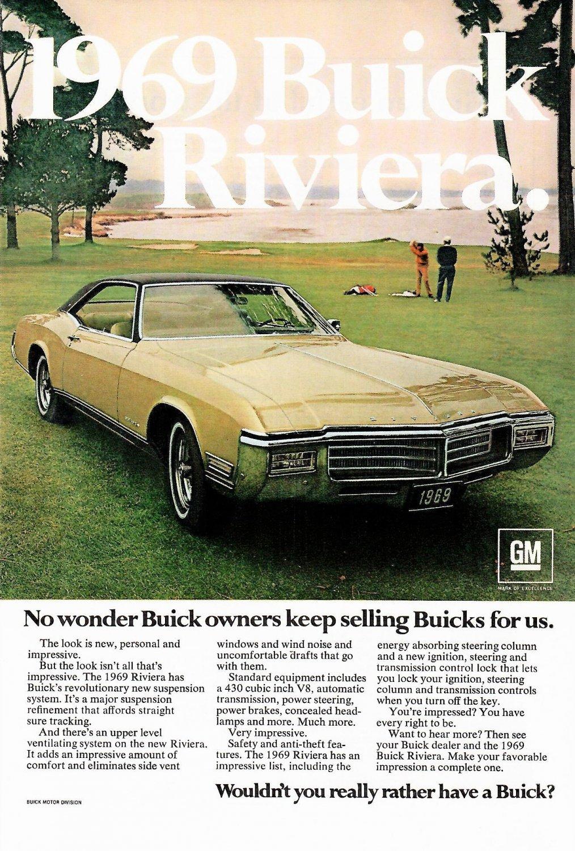 1969 BUICK RIVIERA Magazine Ad