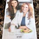 MICHAELA & NINA DOBREV got milk? USA Today Newspaper Ad 2012