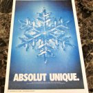ABSOLUT UNIQUE Canadian Vodka Ad LARGE NEWSPAPER PAGE 2000 HARD TO FIND!
