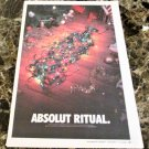 ABSOLUT RITUAL Canadian Vodka Ad LARGE NEWSPAPER PAGE 2002 HARD TO FIND!
