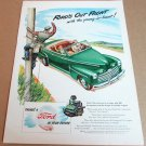 """1946 FORD CONVERTIBLE Magazine Ad Advertisement """"Ford's Out Front"""""""