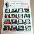 """RONSON LIGHTERS Magazine Ad Advertisement """"The lighter I want is a Ronson!"""" 50s"""