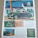 "1941 DE SOTO Magazine Ad Advertisement ""17 Feet of Sheer Beauty"""