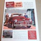 """1941 DE SOTO Magazine Ad Advertisement """"Your next car - The minute you drive it"""""""