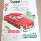 1949 MERCURY 4-DR SEDAN & CONVERTIBLE Magazine Ad Advertisement SMARTEST LOOKING