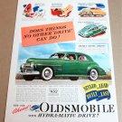 1940 OLDSMOBILE HYDRA-MATIC DRIVE 4-DR SEDAN Magazine Ad Advertisement