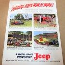 4-WHEEL-DRIVE UNIVERSAL' JEEP' 1948 Magazine Ad Advertisement