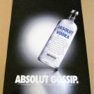ABSOLUT GOSSIP (RIGHT LEAN) Large-Size Vodka Magazine Ad