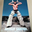 ABSOLUT GAULTIER (OXDANS VERSION) Large-Size Vodka Magazine Ad