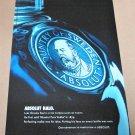 ABSOLUT HALO (HERITAGE SERIES) Large-Size Vodka Magazine Ad