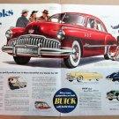 1949 BUICK 4-DOOR SEDAN 2-Page Centerfold Magazine Ad Advertisement
