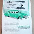 1949 CHEVROLET DE LUXE 2-DOOR SEDAN Vintage Magazine Ad Advertisement