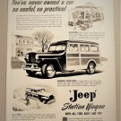 1940's JEEP STATION WAGON Magazine Ad Advertisement