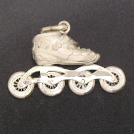 Roller Blade Silver Pendant
