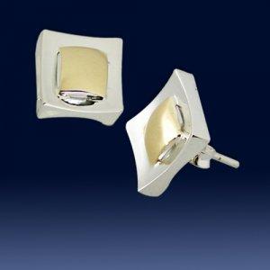 Square design earings