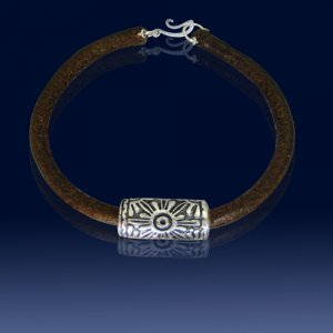 Precolombian design silver bracelet