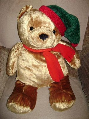 Christmas Teddy - 28 inches tall 022115