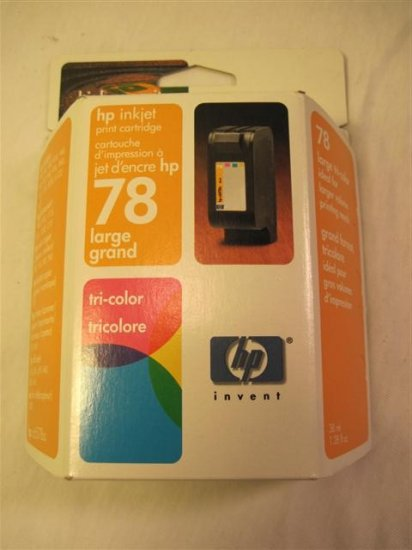 HP 78 Tri Color Print Cartridge-Dated July 2004