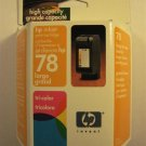 HP 78 Inkjet Tri Color Print  Cartridge-Dated July 2004