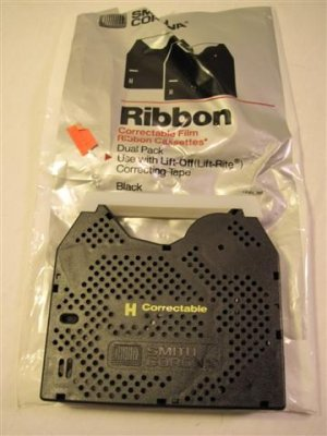 SMITH CORONA CORRECTABLE TYPE WRITER RIBBON (1 Ribbon ) Opened Package