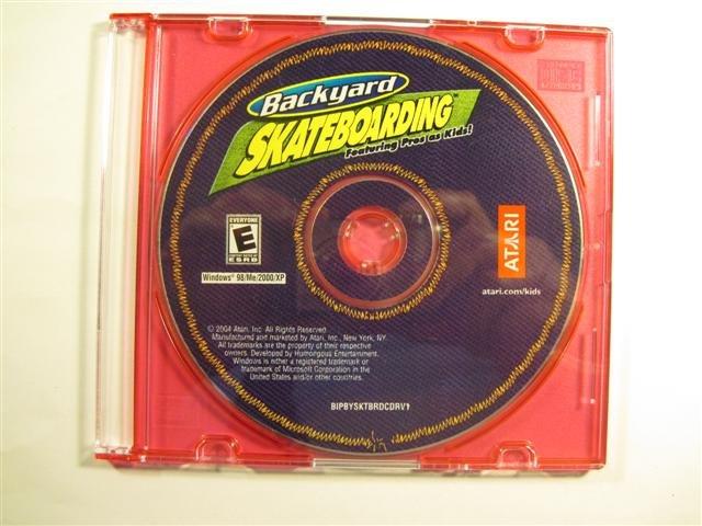 Backyard Skateboarding Video Game by Atari for Windows 98/ME/2000/XP - Disc Only