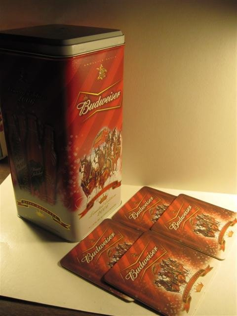 Limited Edition 2006 Budweiser Tin Canister