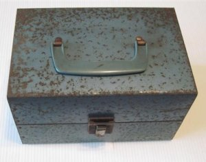 Vintage 8mm Bruce Metal Movie Storage Case