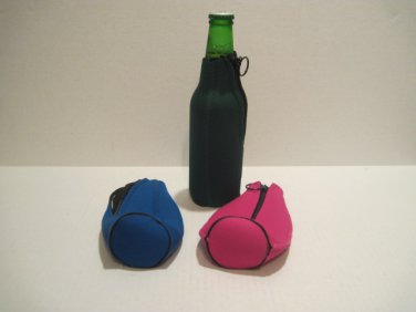 Koozies - Zippered Bottle Holders -  (Lot of 3) 030714