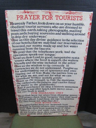 Prayer For Tourist Wall Hanging 032815